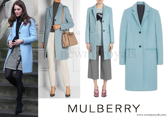 Kate Middleton wore Mulberry Paddington Coat
