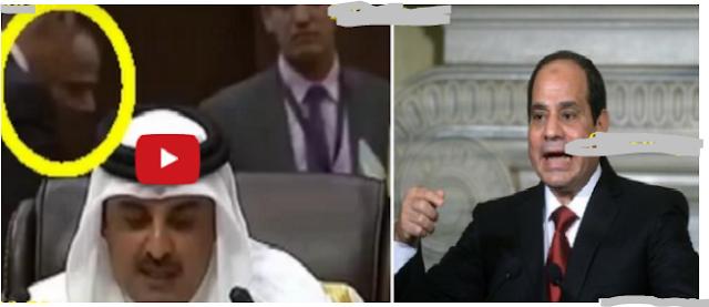 شاهد.. ماذا فعل السيسي حين بدأت كلمة أمير قطر ما فعله فاجأ الجميع