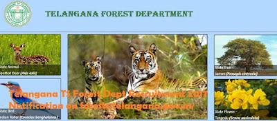 Telangana TS Forest Dept Recruitment 2017 Notification on forests.telangana.gov.in/
