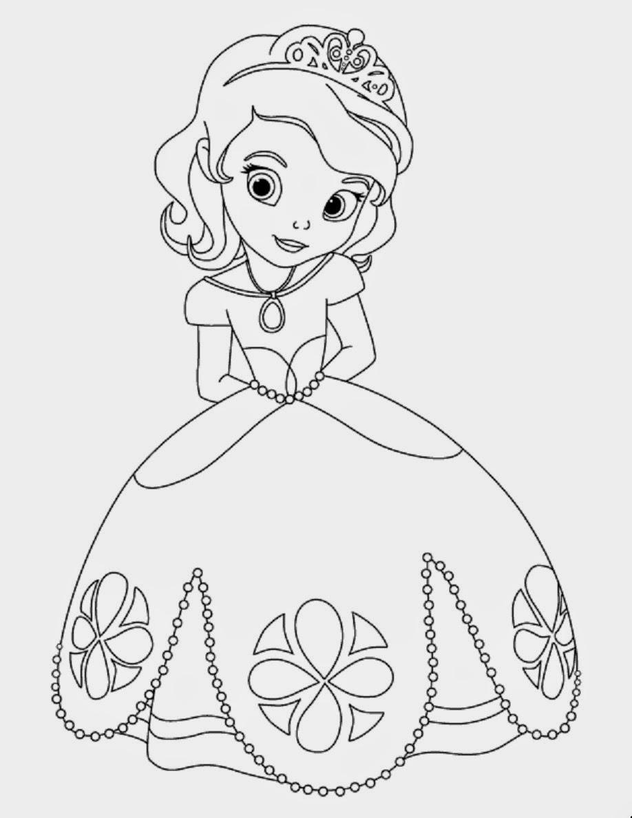 printable princess sofia disney coloring pages