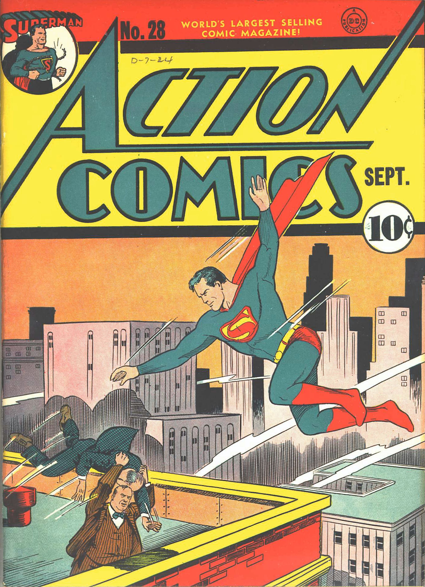 Read online Action Comics (1938) comic -  Issue #28 - 2