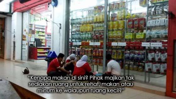 Kedai 1Malaysia Dipersoal Kerana Tidak Sediakan Ruangan Istirahat, Makan Dan Minum Untuk Pekerja