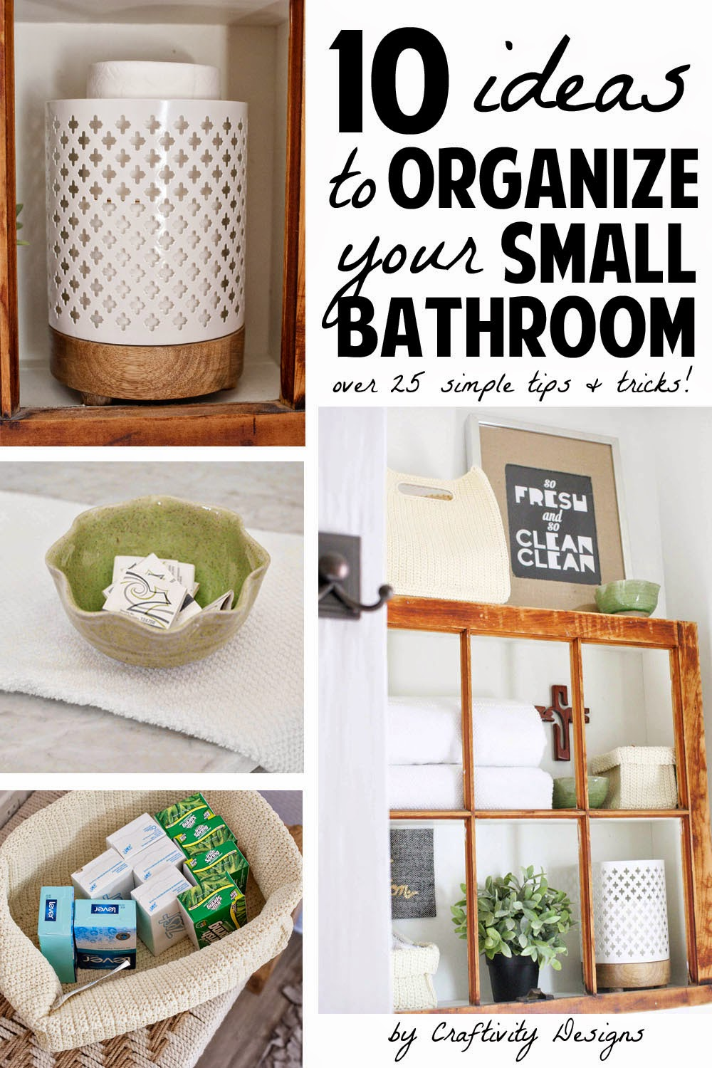 10 Ideas To Organize A Small Bathroom Craftivity Designs