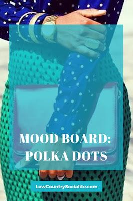 April 2019, Mood Boards, Spring Boards, Polka Dots, The Low Country Socialite, Plus Size Blogger, Savannah Georgia, Hinesville Georgia, Kirsten Jackson