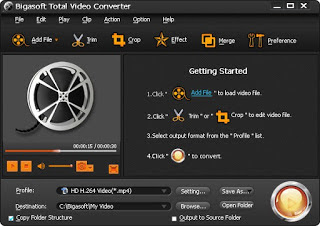 Screenshot Bigasoft Total Video Converter 6.0.4 Full Version