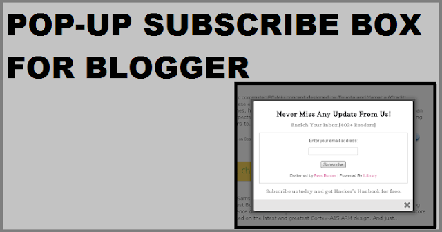 Pop-up Subscriber increase blog traffic