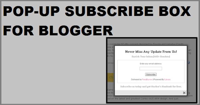 Pop-up Subscriber increase blog traffic