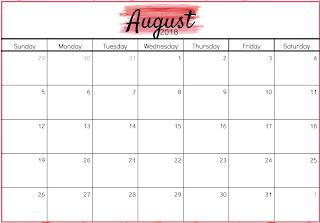 Free Printable Calendar August 2018