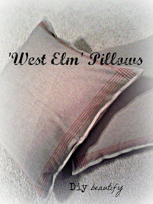 DIY West Elm Pillows from Napkins www.diybeautify.com