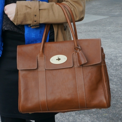Mulberry oak NVT bayswater heritage bag | away from the blue