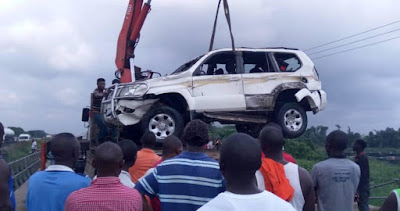 Three Die As Jeep Falls Into Delta River In Broad Daylight (Pics)