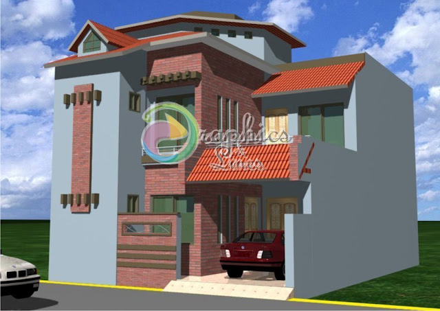 3D Exterior Model of a 10 Marlas House