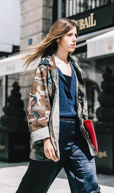 camo print jacket fall street style
