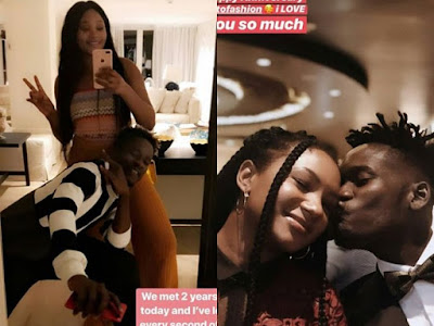 Mr Eazi And Temi Otedola Celebrate 2 Years Anniversary With Lovely Photos