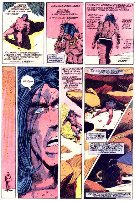 Conan the Barbarian v1 #13 marvel comic book page art by Barry Windsor Smith