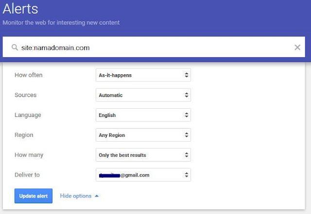 Cara Menentukan Konten yang Berkualitas dengan Google Alert2