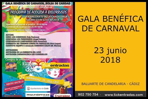 GALA BENÉFICA DE CARNAVAL  -  PROGRAMA DE ACOGIDA A BIELLORRUSOS