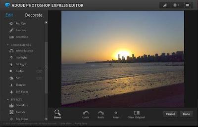 Editor online de imagem Photoshop Express