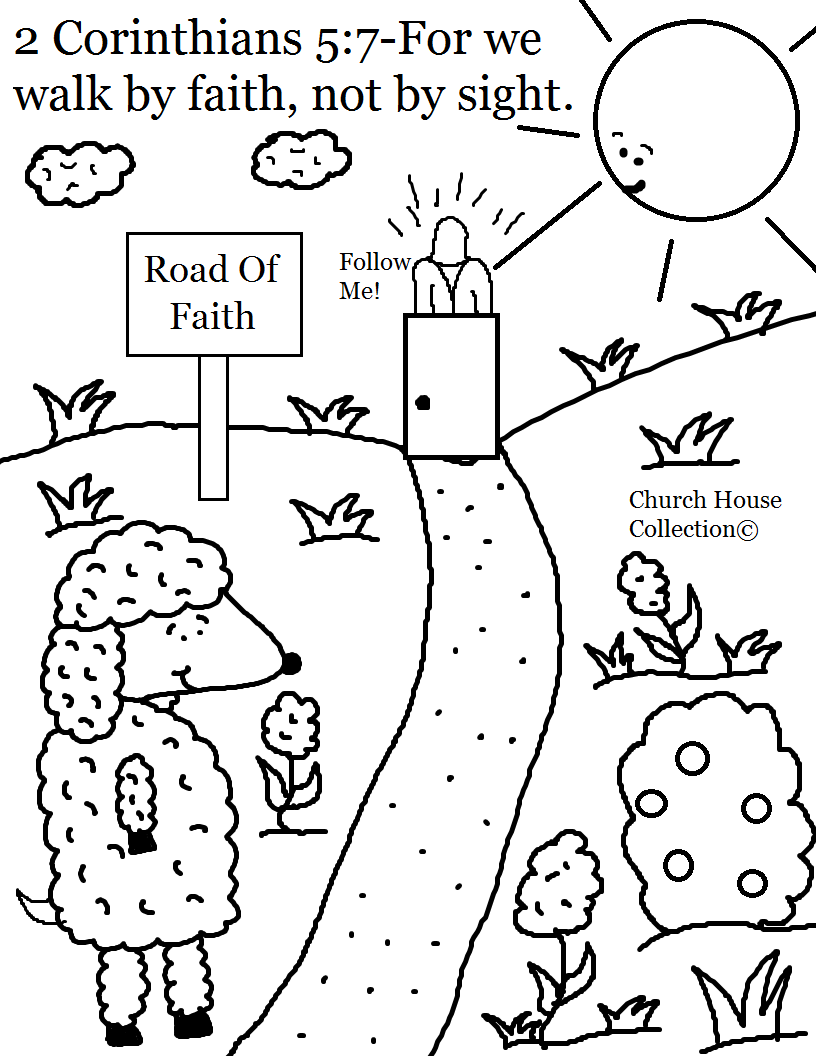 Faith in jesus christ coloring pages