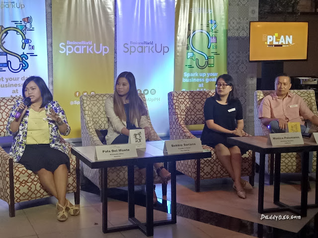 Pola Del Monte - Multimedia Editor, Sparkup; Bobbie Soriano-Founder and Owner, The yard Inc.; Monica Palomares-Marketing Specialist, Jobstreet; and Lucein Dy Tioco - Executive VP, Philippine Star Media Group