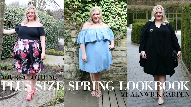 Plus Size Fashion Lookbook featuring spring pieces from Yours Clothing. Filmed at The Alnwick Garden in Northumberland