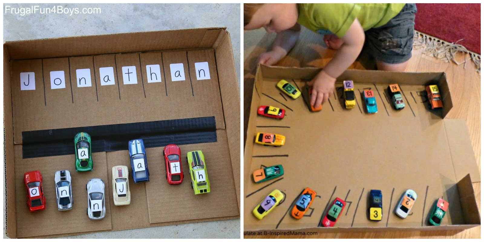 Learning And Exploring Through Play Toy Car Activities