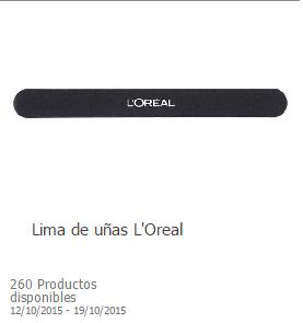 Lima de uñas loreal