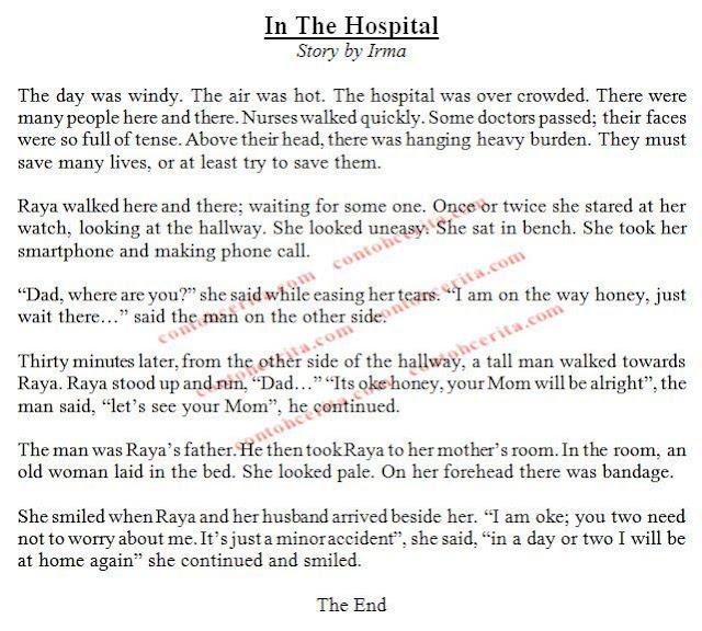 cerita pengalaman in the hospital