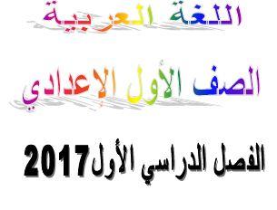 تحميل افضل مذكرة في اللغة العربية للصف الاول الاعدادي ترم اول 2017 word