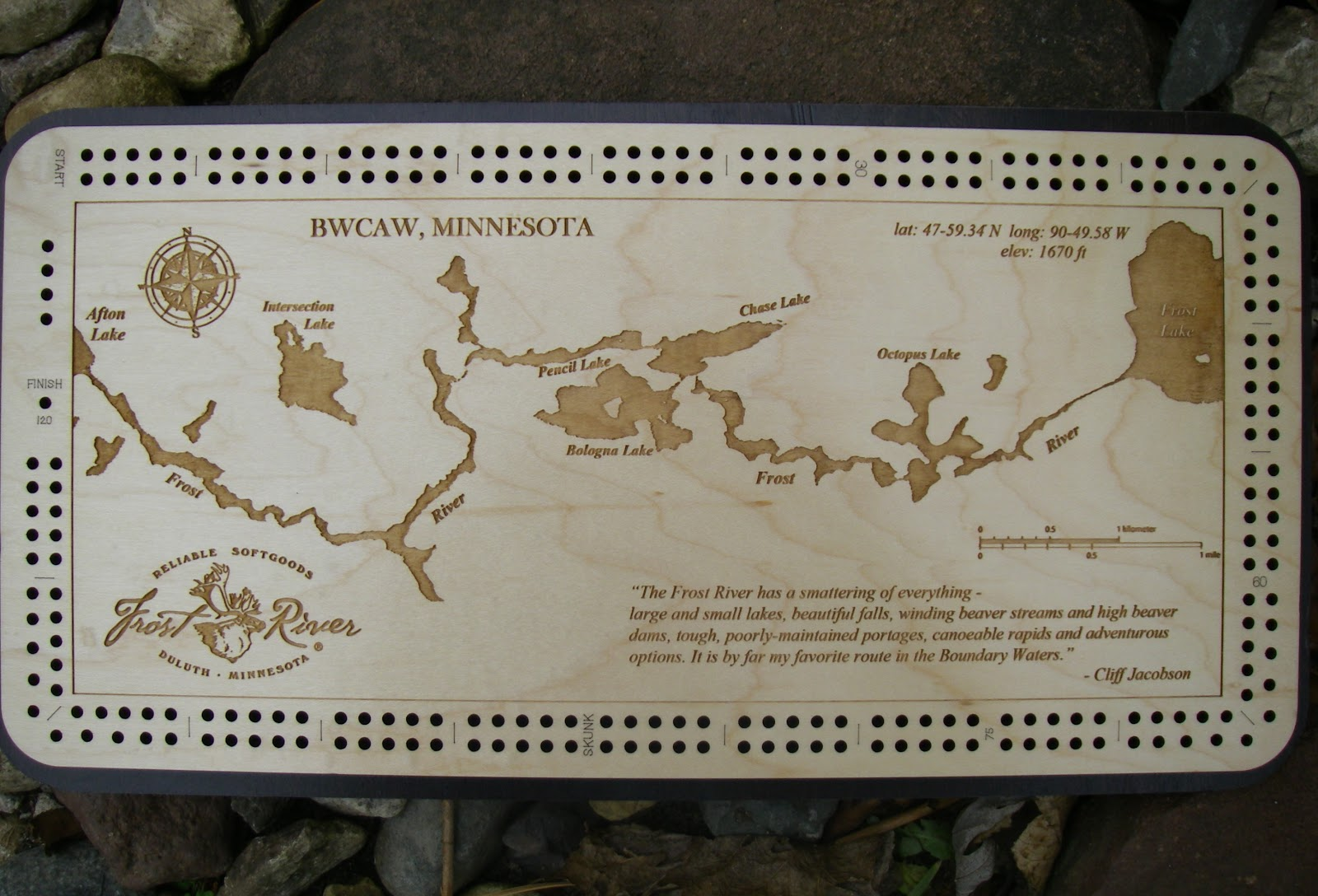 Piragis northwoods company boundary waters blog blog 28 for Cribbage board drilling templates