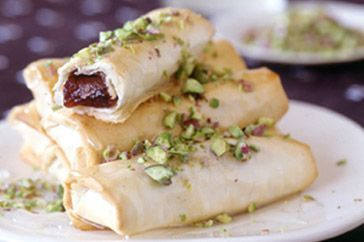 Turkish delight filo rolls