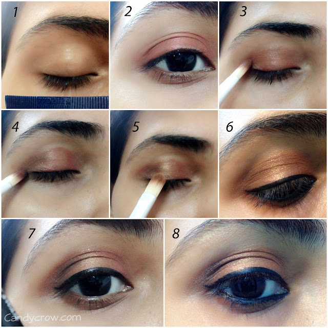 step by step  Bronze Eye Makeup Turorial