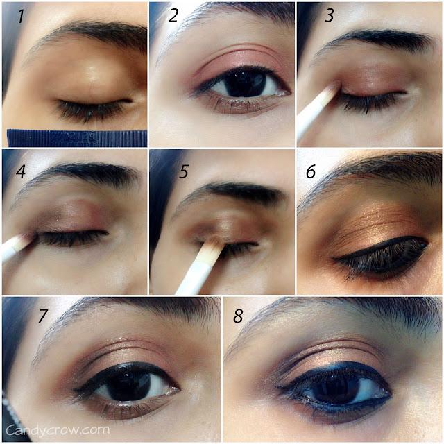 step by step  Bronze Eye Makeup Turorial