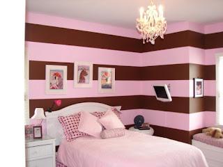 dormitorio rosa marrón