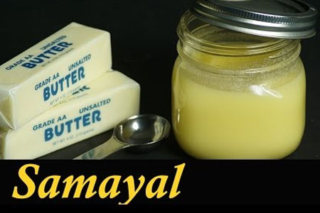 Ghee in Tamil / How to make Ghee from butter in Tamil / Homemade Ghee recipe in Tamil