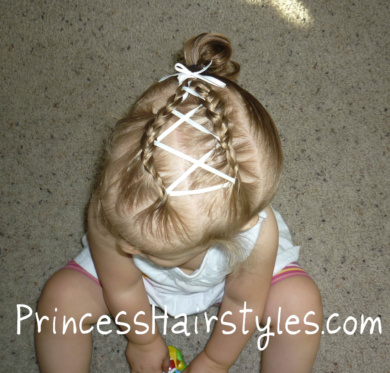 Baby Hairstyles  Criss Cross Ribbon French Braids