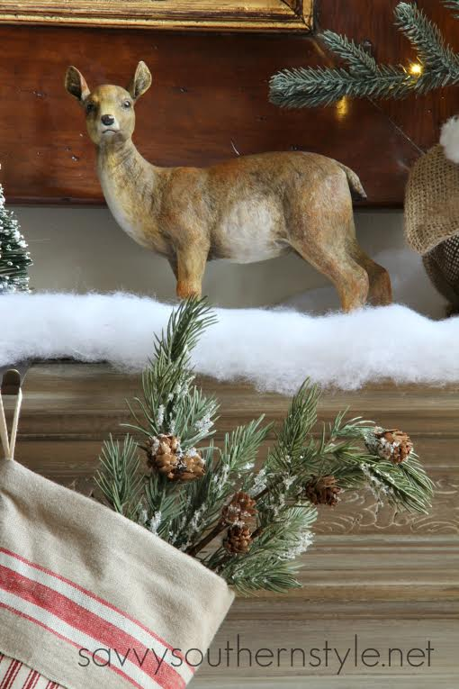 Christmas  Mantel 2014 Blog Hop- From My Front Porch To Yours