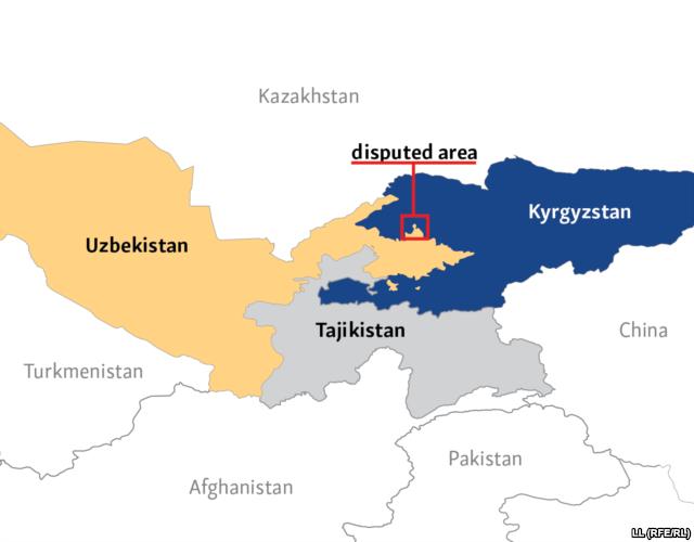 War News Updates Border Dispute Between Uzbekistan Kyrgyzstan - Uzbekistan map png