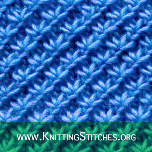 TEXTURED KNITTING - Daisy Flower stitch. Free Knitting Pattern #Freepattern #Knitting