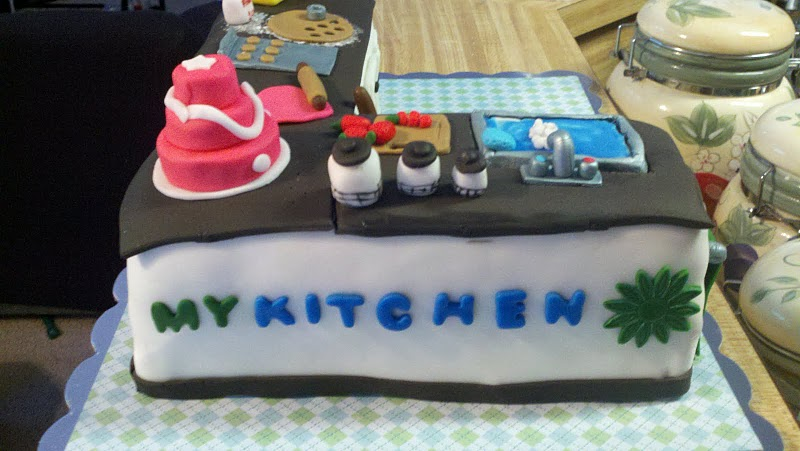 Intentionally Living Kitchen Themed Cake