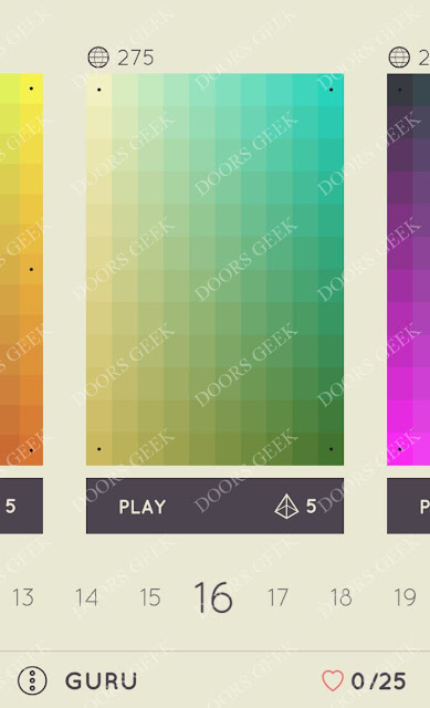 I Love Hue Guru Level 16 Solution, Cheats, Walkthrough