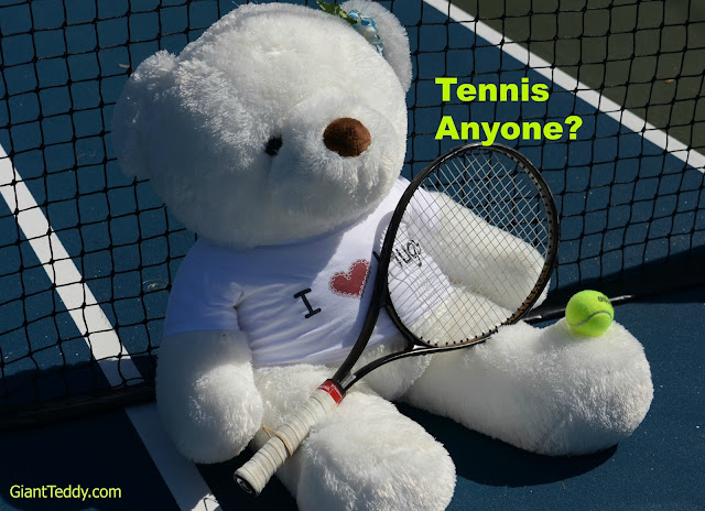 Sprinkle Chubs, Giant Teddy Bear Tennis Pro