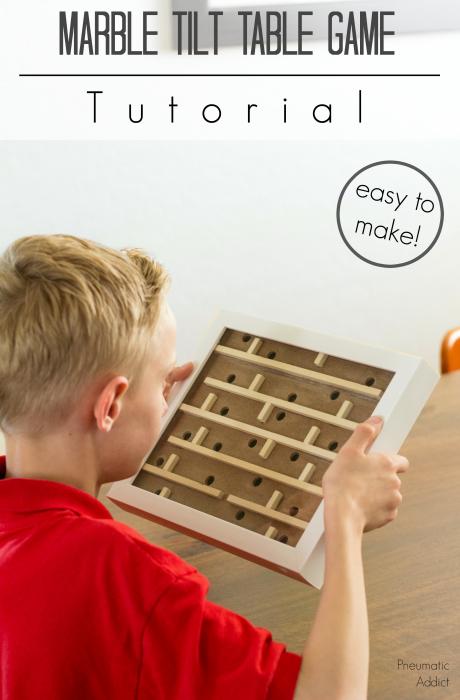 easy diy handmade game gift marble tilt table game