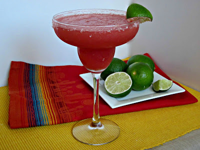A Kicked Up Frozen Watermelon Margarita