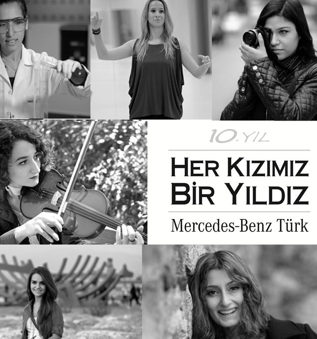 Mercedes benz Türk öğrencilerin yanında