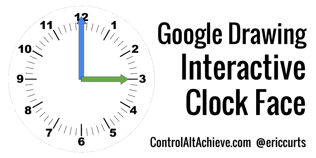 control alt achieve: interactive clock face with google drawings
