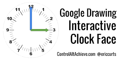 Interactive Clock Face with Google Drawings