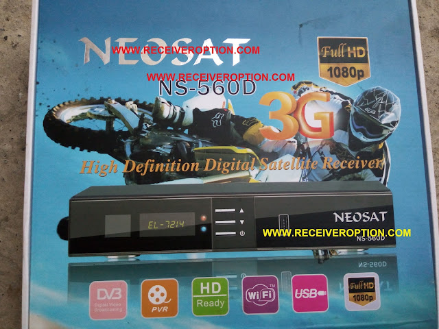 NEOSAT NS-560D HD RECEIVER BISS KEY OPTION