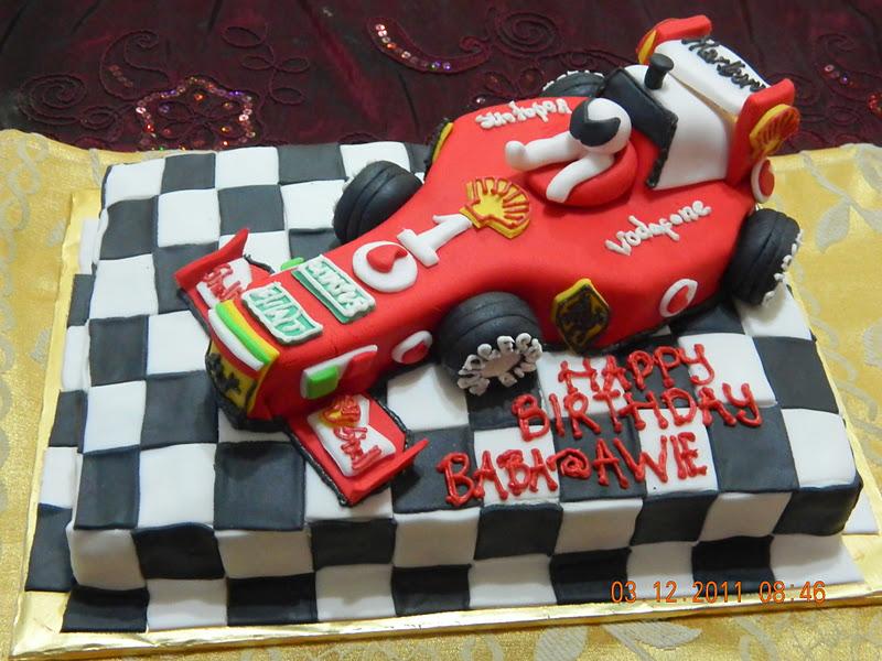 Mybabydeco Cake Formula 1 Car Ferrari