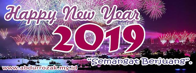 Desain Banner Tahun Baru 2019